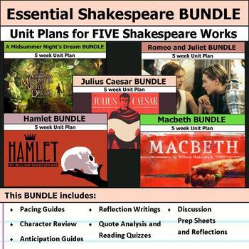 Essential Shakespeare Unit Bundle