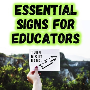 Back to School: Essential Signs for Educators