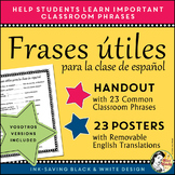 Spanish Classroom Phrases Signs - Handout & Posters  Frase