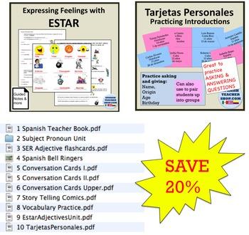 Essential Spanish Teacher Lessons Bundle