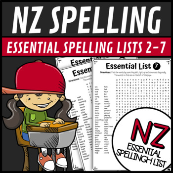 Essential Spelling List MEGA Word Search Find New Zealand NZ