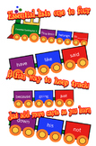 Essential Spelling Words Train - AGE 5-8 years 1-3, lists 1-4 Sight words