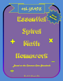 Essential Spiral Math Homework for Fourth Grade - First Nine Weeks