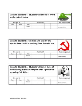 Essential Standards Student Tracking Chart (With example!)