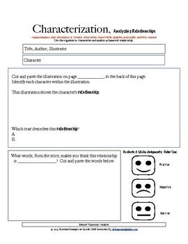 Essential Strategies K-3:  DIY Characterization - Analyzing Relationships