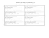 Essential Student Information Form