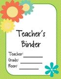 Essential Teacher Binder