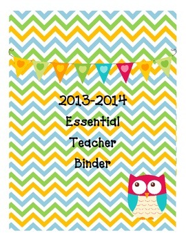 Essential Teacher Binder