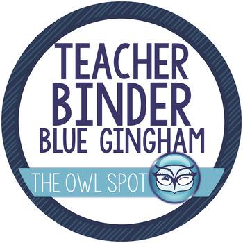 Essential Teacher Binder in Gingham - TONS of organizational resources!!!