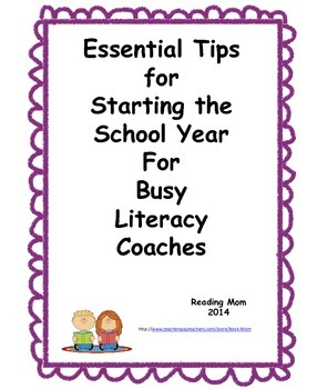 Essential Back To School Tips for Literacy Coaches