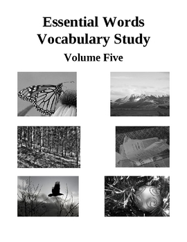 Essential Words Vocabulary Study - Volume Five, Activities and Worksheets