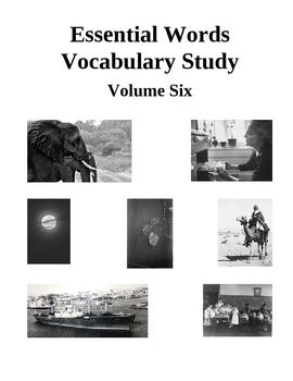 Essential Words Vocabulary Study - Volume Six, Activities and Worksheets