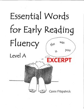Sight Words for Early Reading Fluency Level A