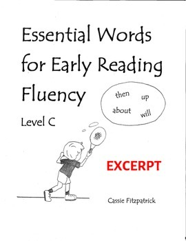 Sight Words for Early Reading Fluency Level C