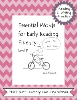 Sight Words for Early Reading Fluency Level D