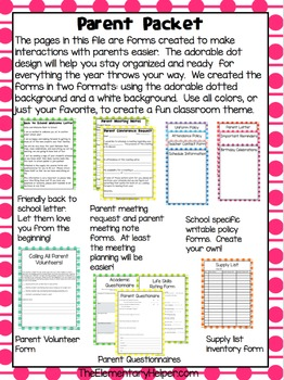 Essential and Editable Classroom Forms and Templates