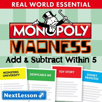 Essentials Bundle - Add & Subtract Within 5 – Monopoly Madness