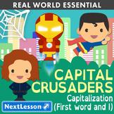 K Capitalizing Sentences and 'I' - 'Capital Crusaders' Essentials Bundle