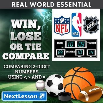 Essentials Bundle - Comparing 2-digit no. – Win, Lose or Tie Compare