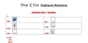G1 Final -e Words - 'Final E Fun' Essentials Bundle