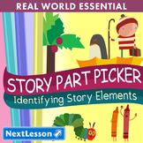 K Characters, Setting & Plot - 'Story Part Picker' Essenti