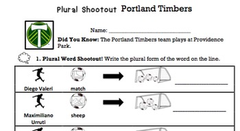 G2 Irregular Plural Nouns - 'Plural Noun Shootout' Essentials Bundle
