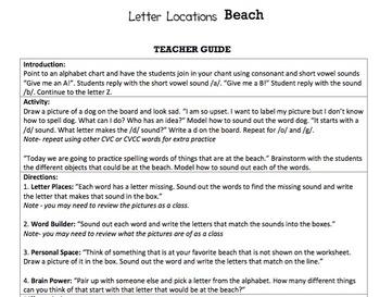 K Letter Sound Correspondence - 'Letter Locations' Essentials Bundle