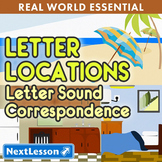 K Letter Sound Correspondence - Letter Locations Essential