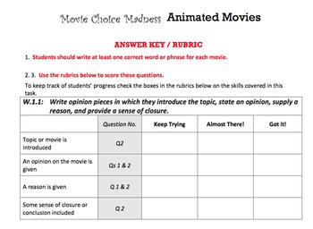 G1 Opinion Writing - 'Movie Choice Madness' Essentials Bundle
