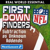 Essentials Bundle - Subtraction as Unknown Addends – First Down Finders