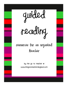 Essentials for Guided Reading: Getting Organized
