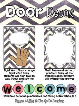 Essentials for the Classroom Door