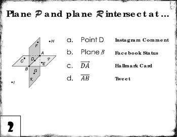Essentials of Geometry Mad Lib