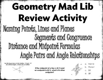 Essentials of Geometry Mad Lib