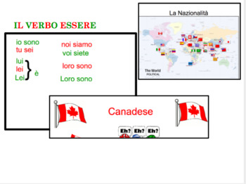 Essere and Nationalities Powerpoint  * can be edited*