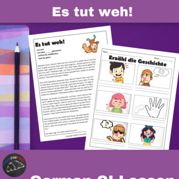 Est tut weh! - a Comprehensible Input lesson for German learners