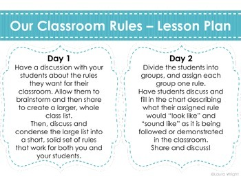 Establishing Classroom Rules