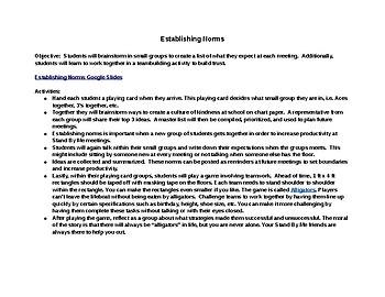 Establishing Group Norms Lesson