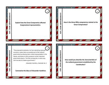 Establishing New Government Task Cards