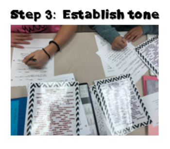 Establishing Tone - an interactive lesson for upper elementary/middle school