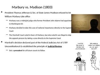 Establishing the American Republic: The Marshall Court