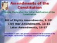 Establishing the US Government - Amending the US Constitution