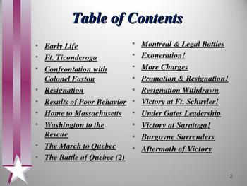American Revolutionary War  - Key Figures - Benedict Arnold