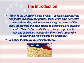 Establishing the US Government - Legacy of the Declaration of Independence