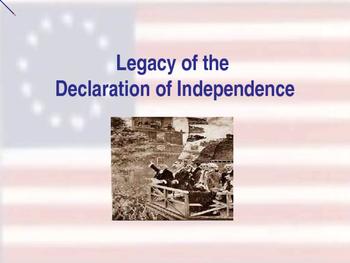 Establishing the US Government  - Legacy of the Declaratio