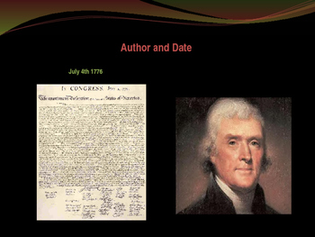 Establishing the US Government - Important Parts of the Declaration
