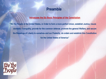 Establishing the US Government  - Principles & Articles of the Constitution