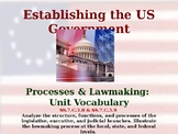 Establishing the US Government - Processes & Lawmaking - Unit Vocabulary
