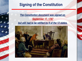 Establishing the US Government  - The Birth of the Constitution