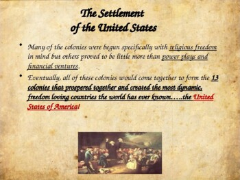 Colonial America - The Colonization of the United States